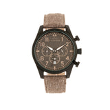 Elevon Curtiss Chronograph Nylon-Overlaid Leather-Band Watch - Beige/Black - ELE104-5