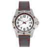Elevon Aviator Leather-Band Watch w/Date - Grey/White - ELE120-13