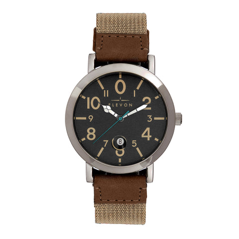 Elevon Mach 5 Canvas-Band Watch w/Date