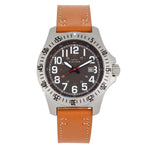 Elevon Aviator Leather-Band Watch w/Date - Camel/Brown - ELE120-14