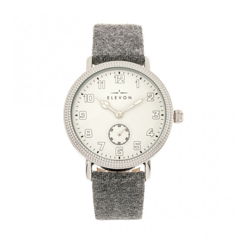 Elevon Northrop Wool-Overlaid Leather-Band Watch