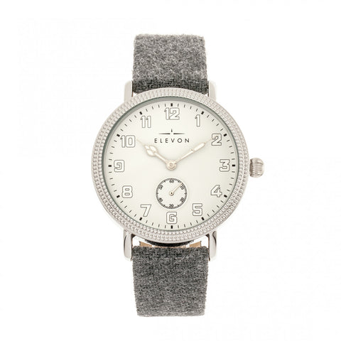 Elevon Northrop Wool-Overlaid Leather-Band Watch - Grey/White - ELE110-1