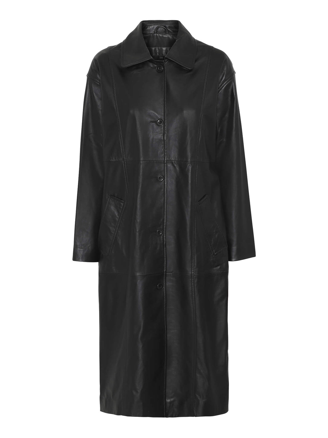 PALOMA TRENCHCOAT - LEATHER - BLACK