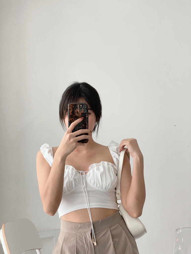 Girlfriend Top WHITE (BACKORDER)