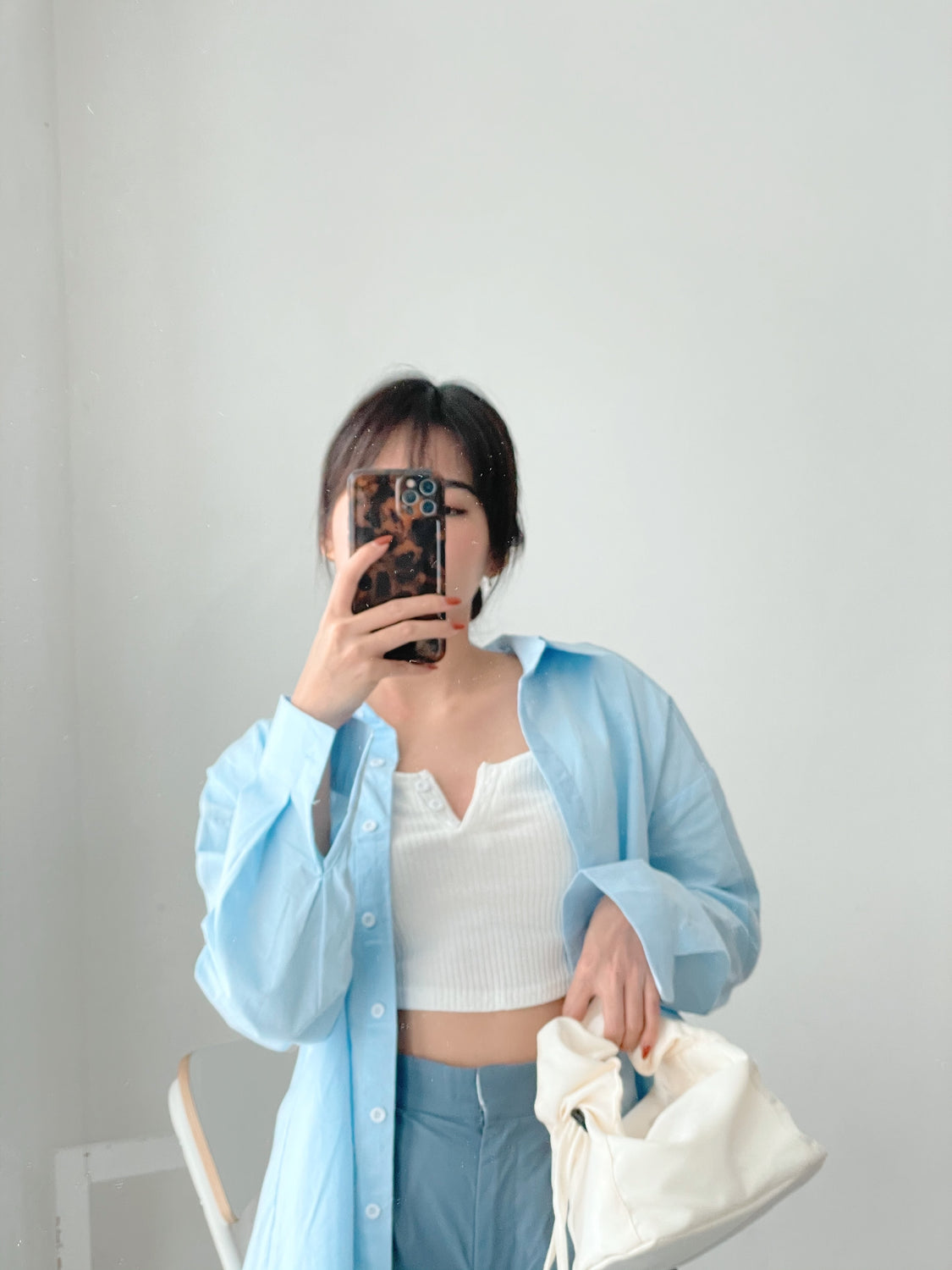 Boyfriend Blouse BLUE