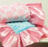Little Chick Pink/Blue Minky Blanket.
