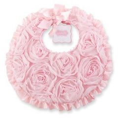 Chiffon Rosette Bib by Mud pie