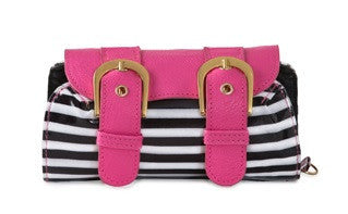 IN A Pickle Compact organizer Bread And Butter Pikle – B&W Stripe With Pink Flap (Without Starter Pak).