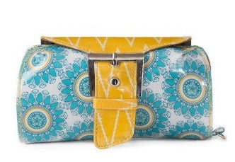Pickle Compact organizer Dill Pikle – Blue Floral With Yellow Chevron (With Starter Pak)