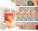 Once filled, you can immediately use, freeze (best to lie flat in freezer - store for up to 3 months) or store in your refrigerator for up to 48 hours.