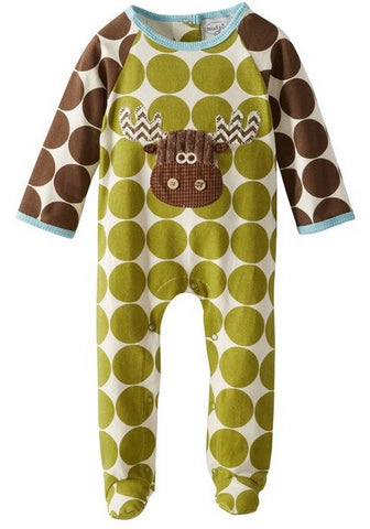 Mud-pie Moose One Piece with bib