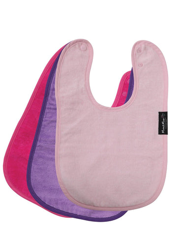Mum 2 Mum Standard Wonder Bib - 3 pack (Pink,Hot Pink,Purple)