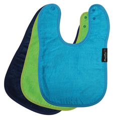 Mum 2 Mum Standard Wonder Bib - 3 pack (Lime ,Navy ,Tea)