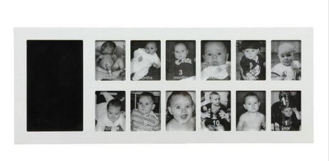 Baby Art First Year Print Frame Kit (White)
