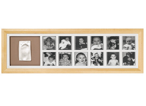 Baby Art First Year Print Frame Kit (Natural).