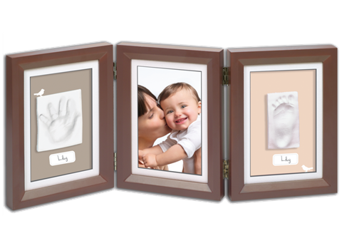 Baby Art Double Print Frame(Brown-Taupe).
