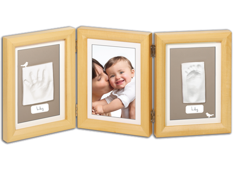 Baby Art Double Print Frame(Natural).