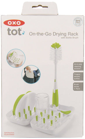 On-The-Go Drying Rack with Bottle Brush