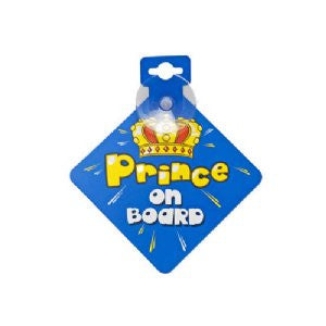 Prince on Board Car Sign .