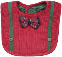 Baby-Boys Red Bow Bib By Mud Pie