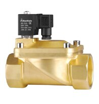 SLM 2/2-Way, Brass Nitrile, Pilot Operated Solenoid Valve, Normally Closed - AircoProducts