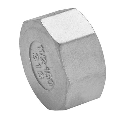 Threaded Hex Cap 150lb Stainless Steel 316 - AircoProducts