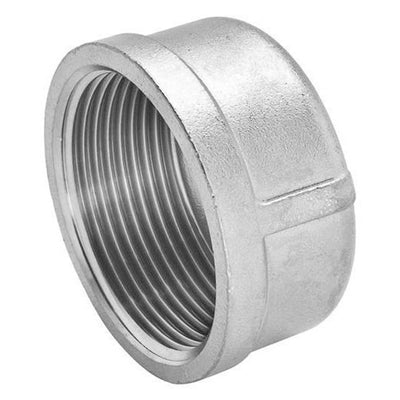 Threaded Round Cap 150lb Stainless Steel 316 - AircoProducts
