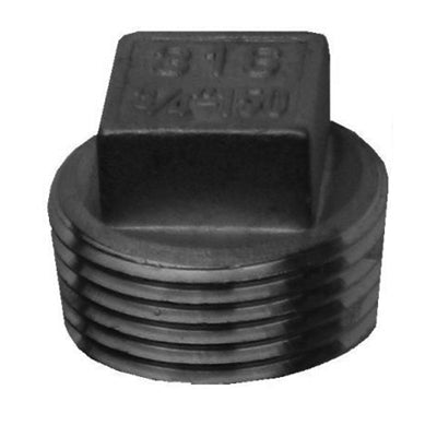 Threaded Square Plug 150lb Stainless Steel 316 - AircoProducts
