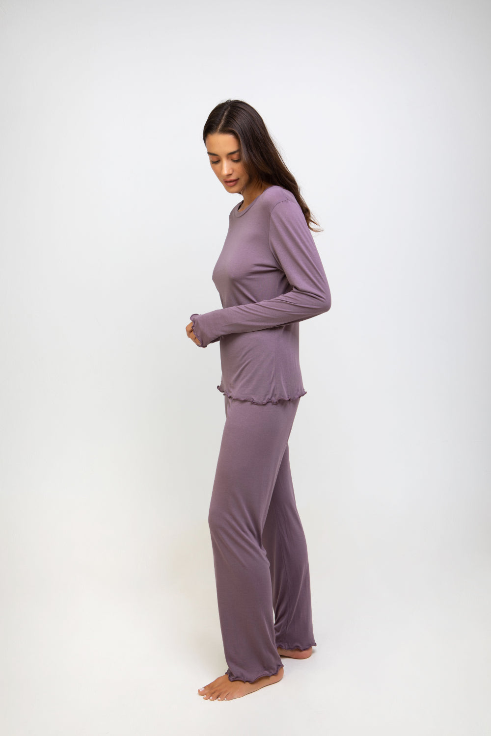 Bianca Bamboo Pyjamas Set Purple