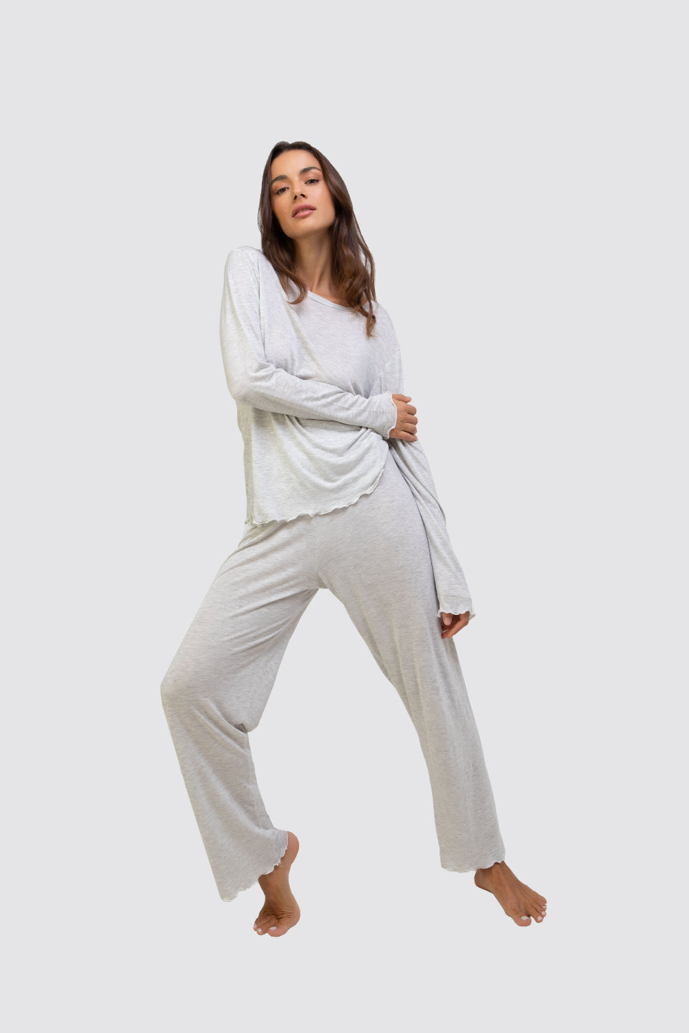 Bianca Bamboo Pyjamas Set Grey