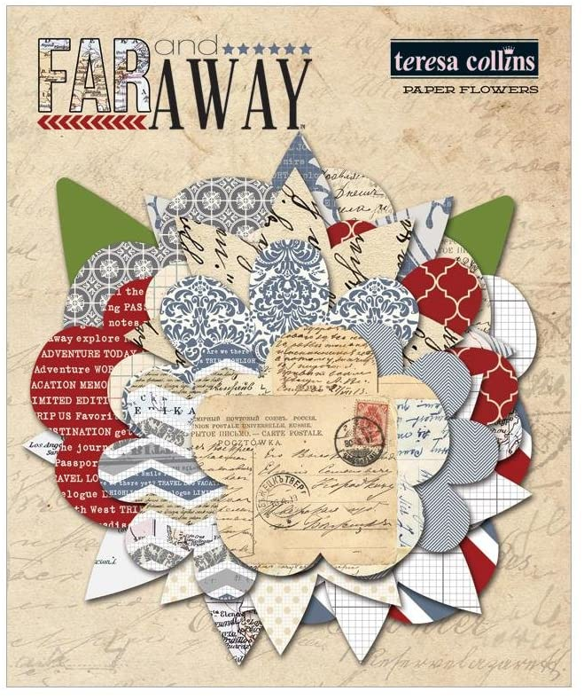 Teresa Collins Far and Away - Paper Pack and Scrapbooking Accessories - Pack 8
