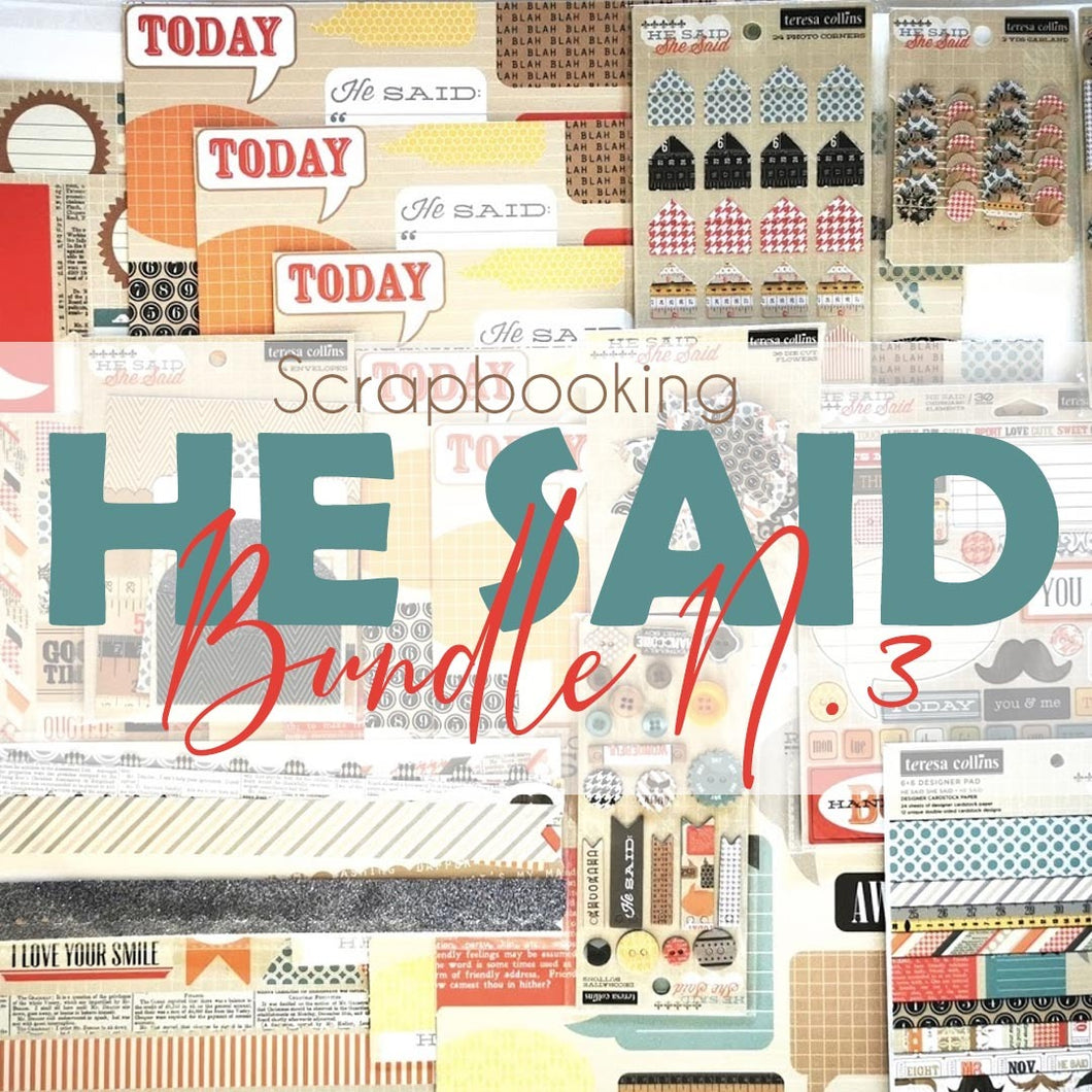 Teresa Collins He Said - Scrapbooking Paper & Accessories Pack - Pack 3