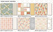 Load image into Gallery viewer, Teresa Collins She Said - Scrapbooking Paper & Accessories Pack - Pack 1