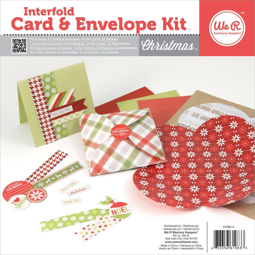 We R Memory Keepers - Kit di biglietti e buste interfogliati - NATALE