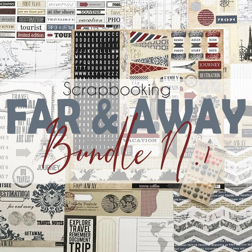 Teresa Collins Far and Away - Confezione di carta e accessori per scrapbooking - Pacchetto 1