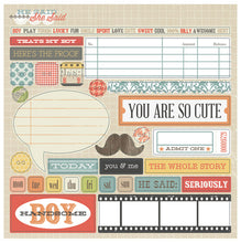 Load image into Gallery viewer, Teresa Collins He Said - Scrapbooking Paper & Accessories Pack - Pack 4