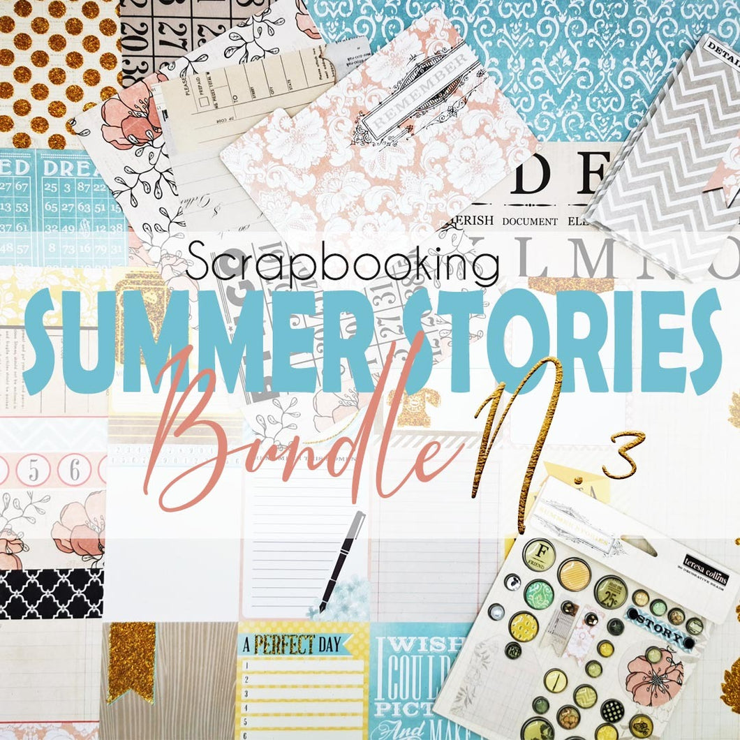 Teresa Collins Summer Stories - Confezione di carta e accessori per scrapbooking - Pacchetto 3
