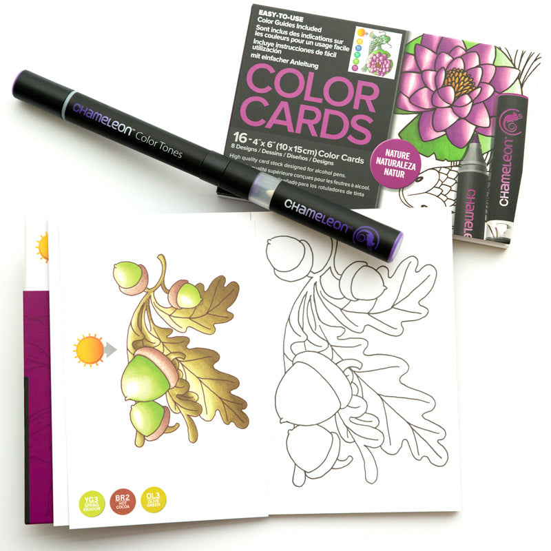 Chameleon Art Products - Carte da colorare - NATURA