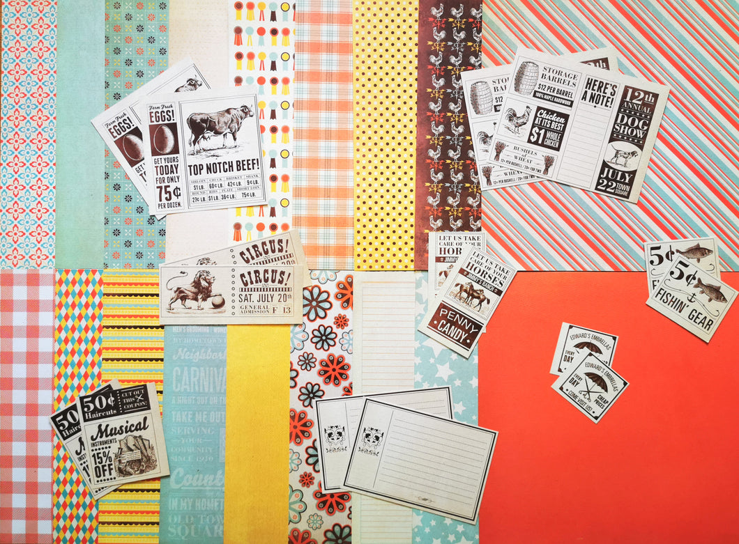 Set di carta e accessori addizionali del kit di Scrapbooking COUNTRY LIVING