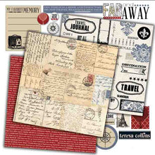 Load image into Gallery viewer, Teresa Collins Far and Away - Paper Pack and Scrapbooking Accessories - Pack 8