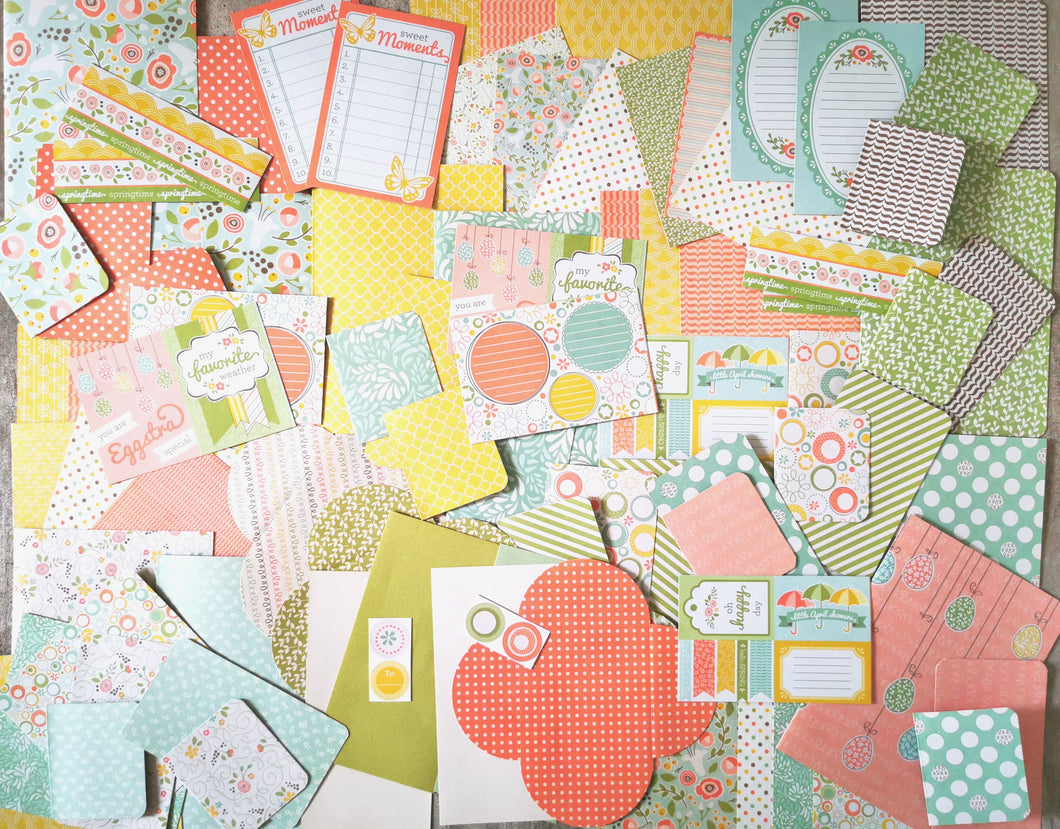 Set di carta e accessori addizionali del kit di Scrapbooking SIMPLY SPRING
