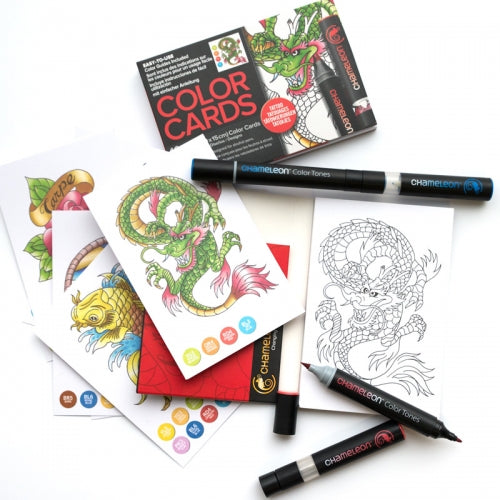 Chameleon Art Products - Carte da colorare - TATUAGGIO