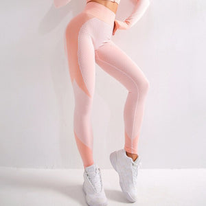 Open image in slideshow, High Wait Multi Colour Seamless Nylon Leggings
