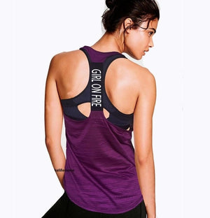 Open image in slideshow, Sleeveless  Sports Wear Tank top