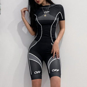 Sexy Tank Top and Bikers Short Sportwear