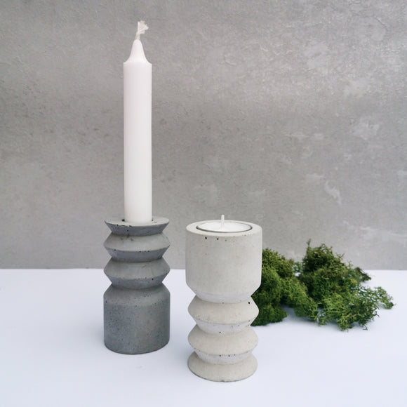 Handmade Candle and Tealight Holder Set