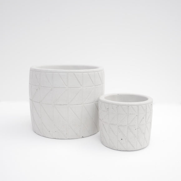 Geo Pattern Planter -  2 Sizes