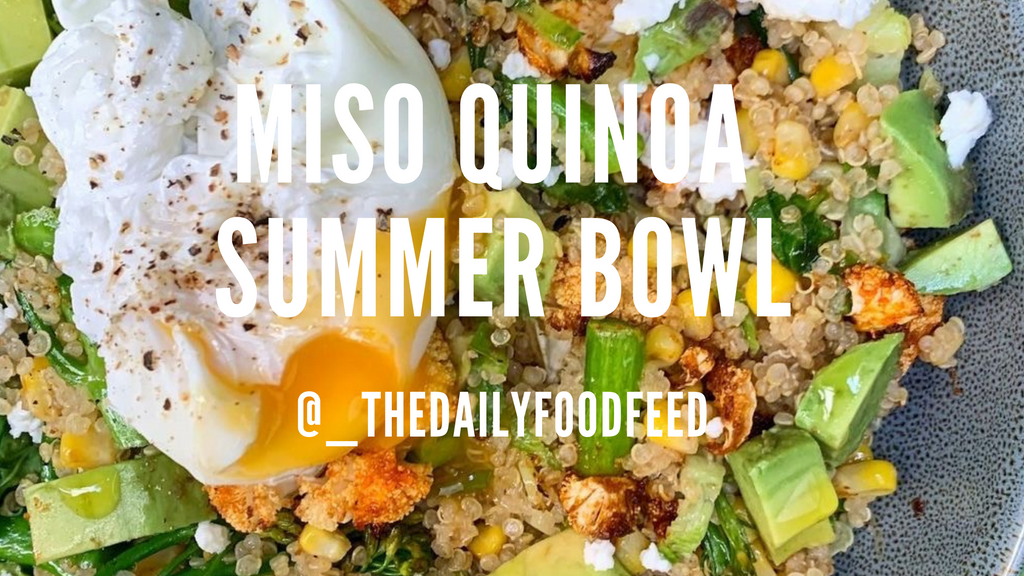 Miso Quinoa Summer Bowl - _thedailyfoodfeed