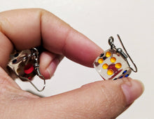 Load image into Gallery viewer, Clear Dice Earrings: Play, Game Night, Gamble, Casino