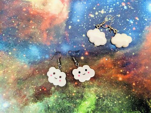 Cloud Earrings: Weather, Silver Lining, Happy Clouds